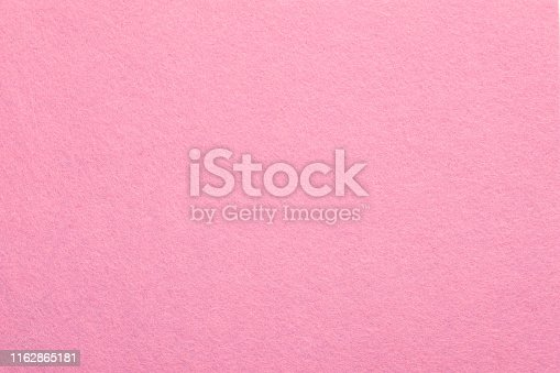 Sweet pink felt texture abstract art background. Colored fabric fibers surface. Empty space.