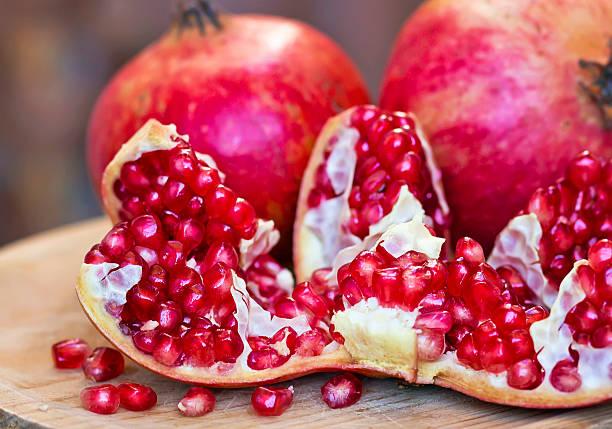 Sweet pomegranates stock photo