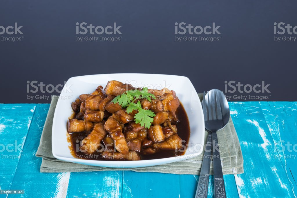 Sweet Pork Condiment (Thai name is muu waan) zbiór zdjęć royalty-free