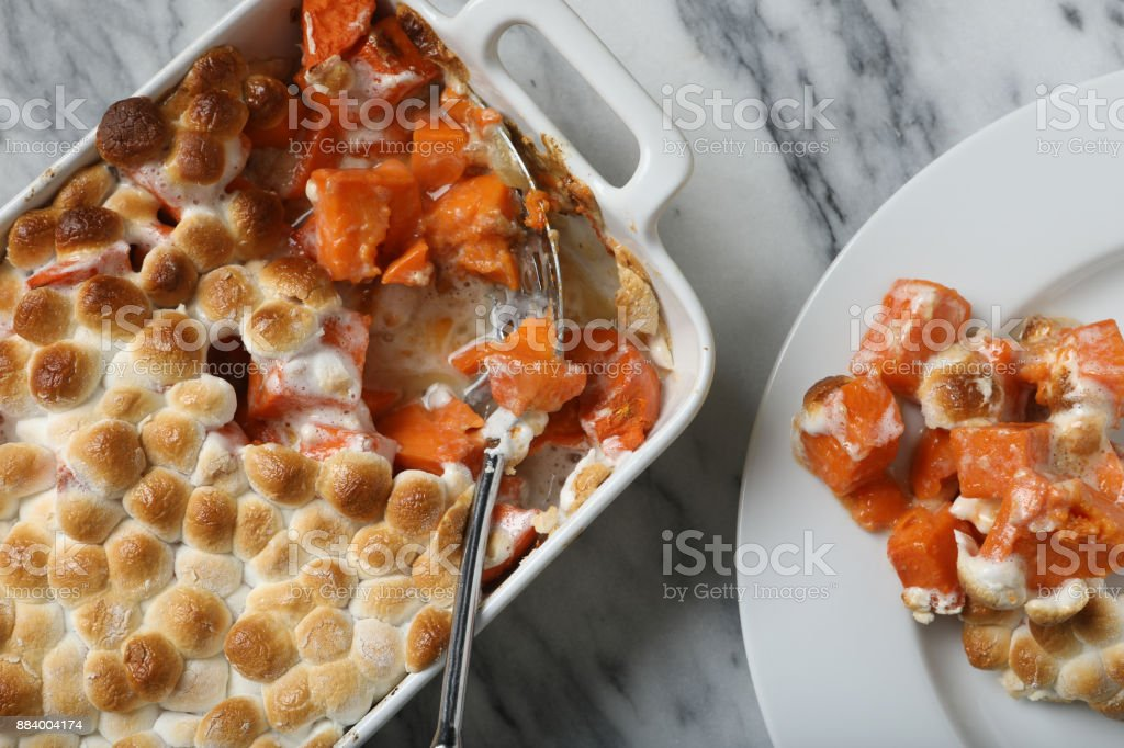 Sweet Potato Casserole stock photo