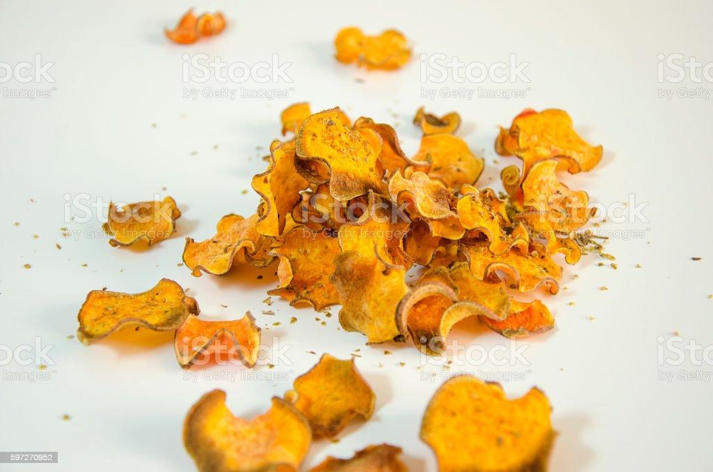 Sweet potato chips royalty-free stock photo