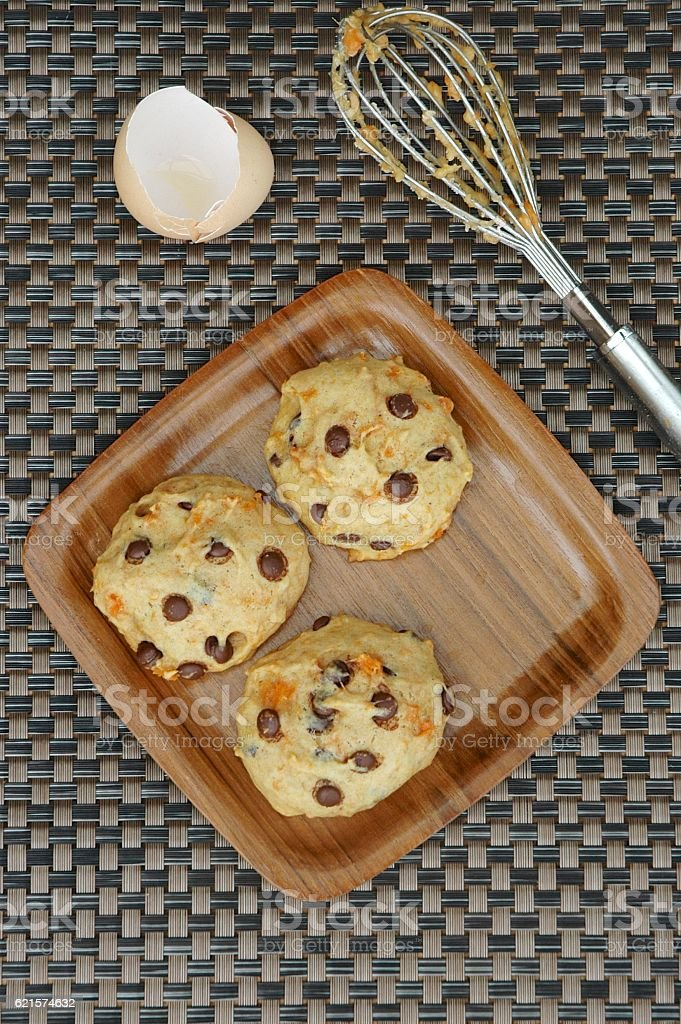 sweet potato chocolate chip cookies photo libre de droits