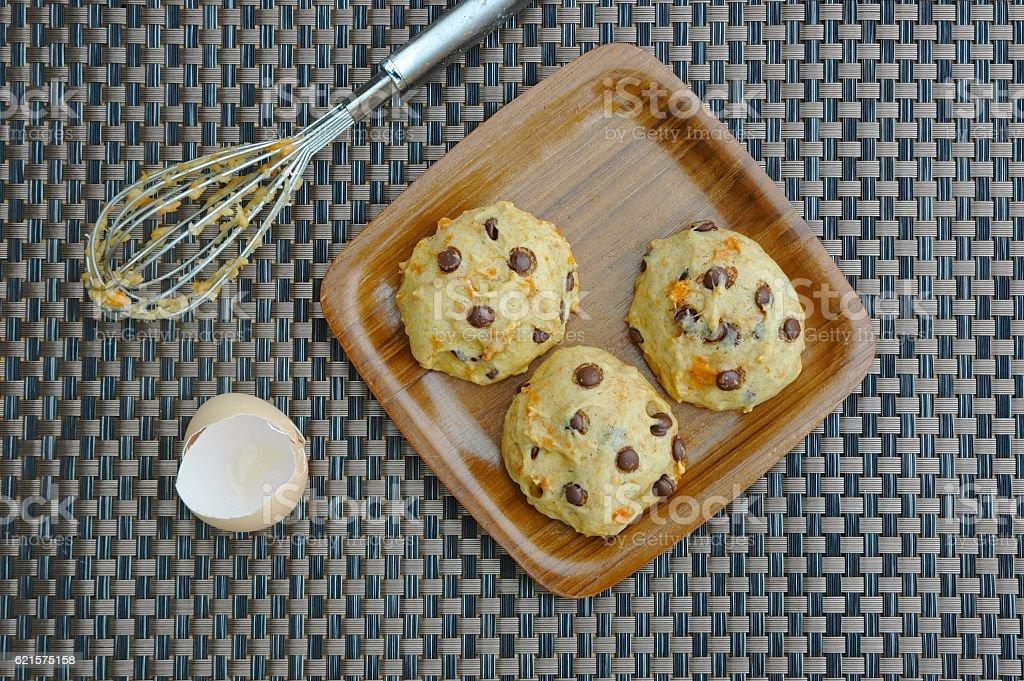 Sweet potato chocolate chip cookies photo libre de droits