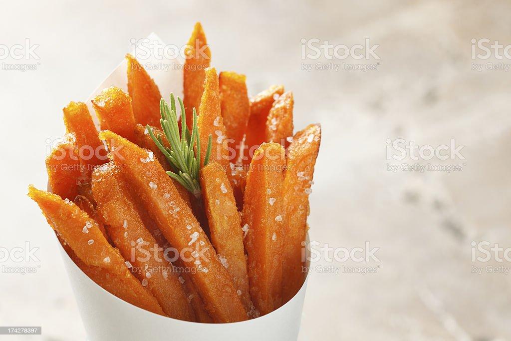 Batata doce batatas fritas - fotografia de stock