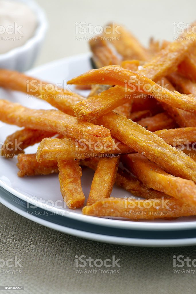 Sweet Potato Fries royalty-free stock photo