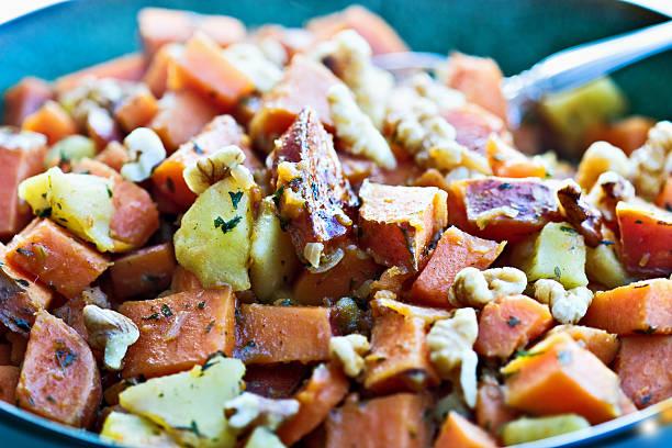 Sweet potato hash stock photo