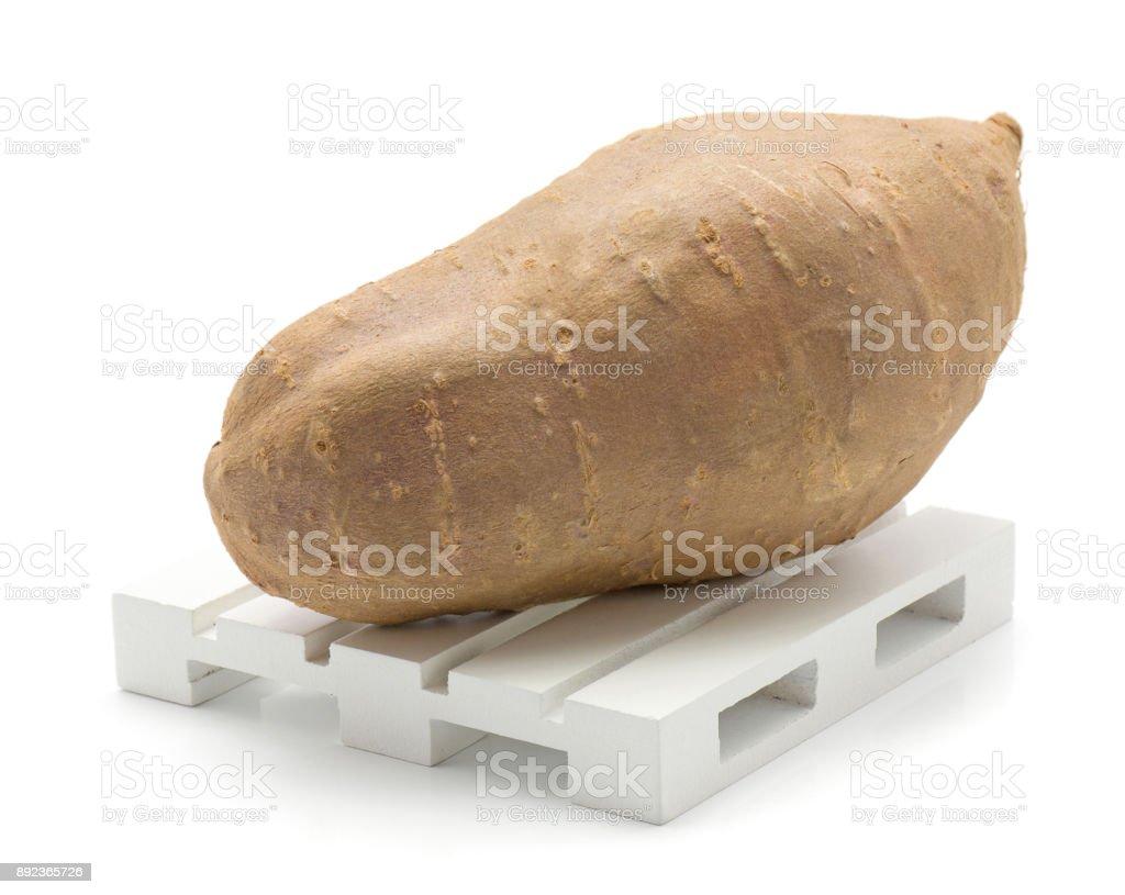 Sweet potato isolated stock photo