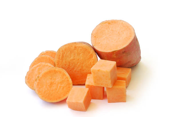 Sweet Potato.(with Clipping Path). stock photo