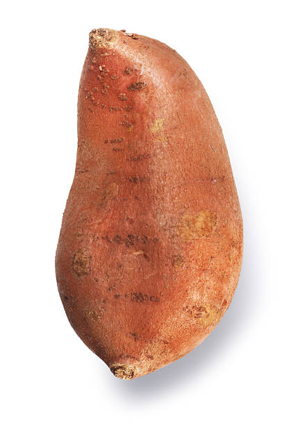 Sweet Potato Single sweet potato isolated on white. sweet potato stock pictures, royalty-free photos & images