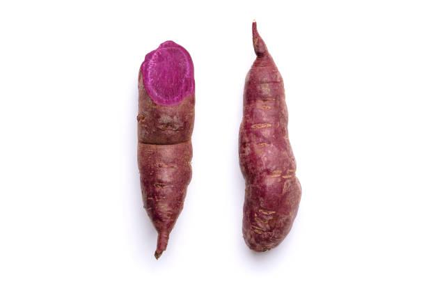 Sweet Potato Purple Root Tuber Vitamin Vegetable stock photo