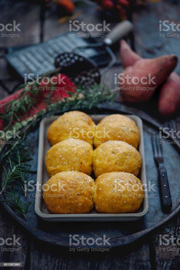 Sweet Potato Rolls stock photo