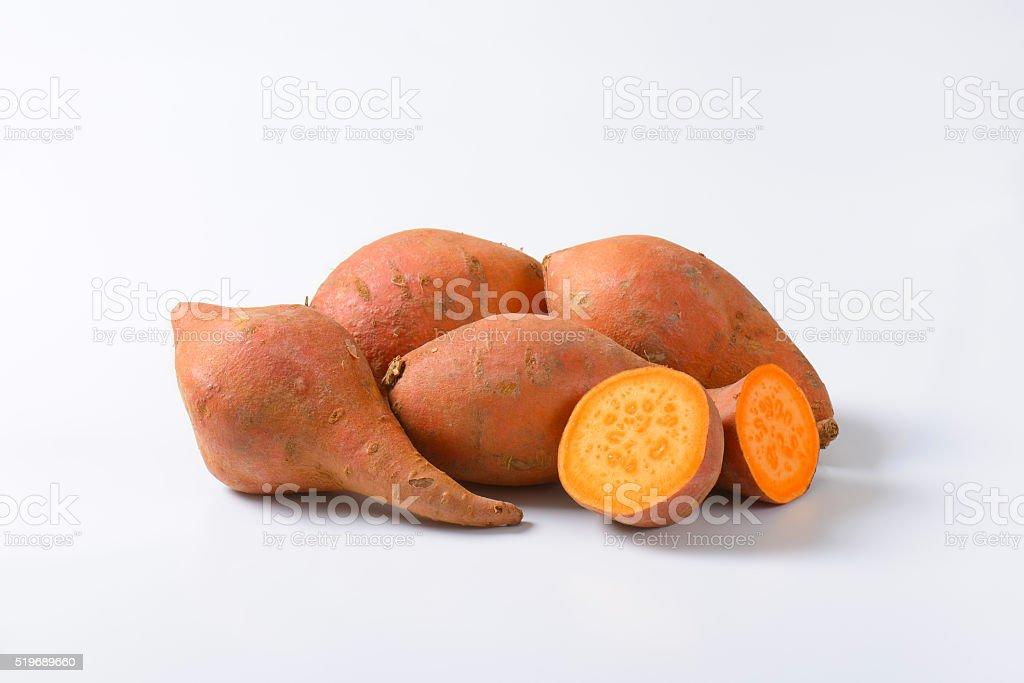 Sweet potato roots stock photo