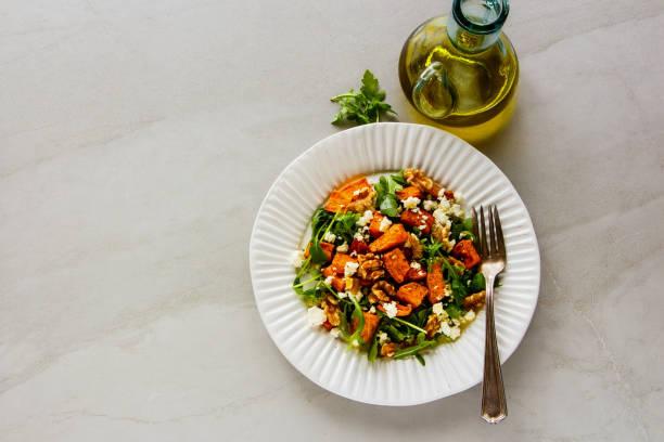 Sweet potato salad stock photo