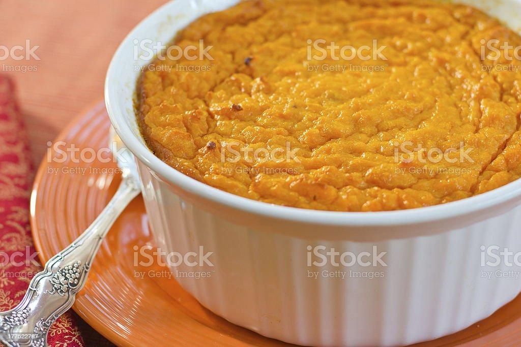 Sweet Potato Souffle stock photo