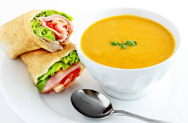 Sweet potato soup stock photo