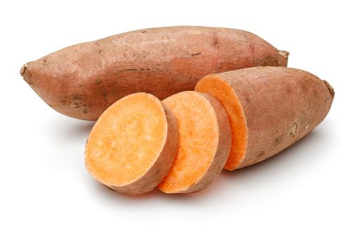 Sweet Potato With Slices - zdjęcia stockowe i więcej obrazów Batat