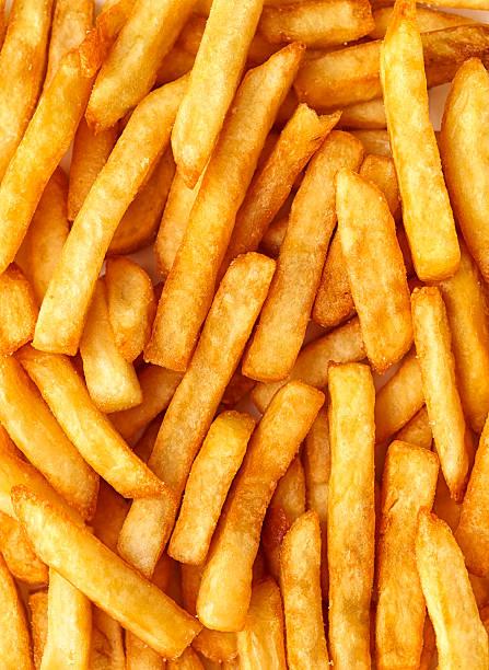 Sweet potatoes fries background