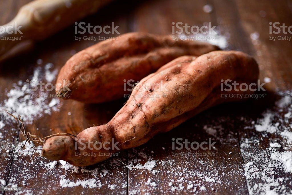 Słodkie ziemniaki  zbiór zdjęć royalty-free