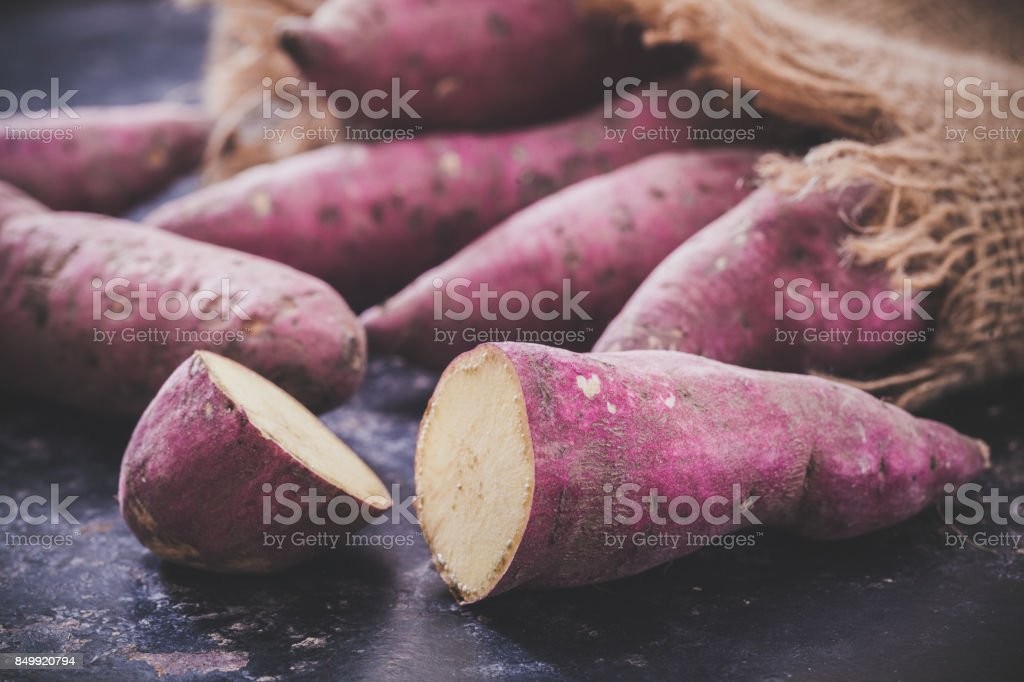 Sweet potatoes - fotografia de stock