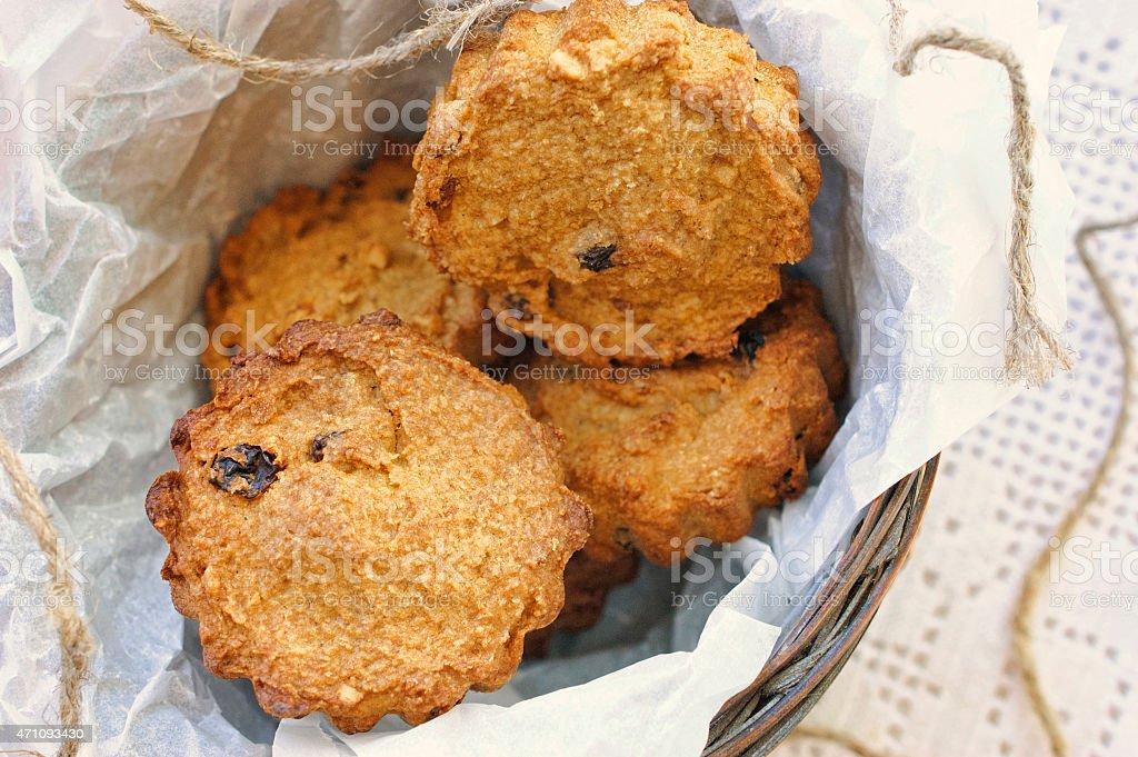 Sweet pumpkin cakes with raisin stock photo