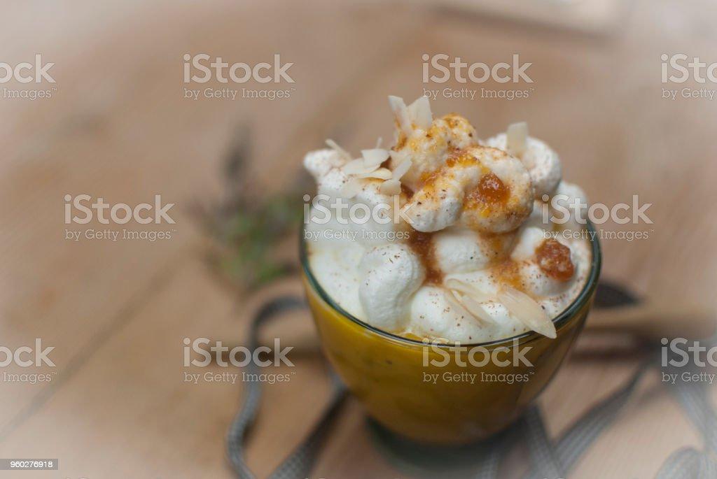 Sweet Pumpkin Cappuccino stock photo
