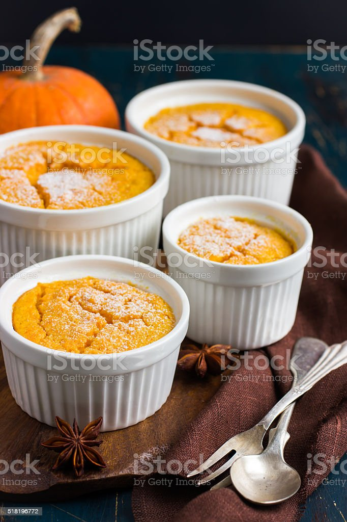 Sweet pumpkin  souffle stock photo