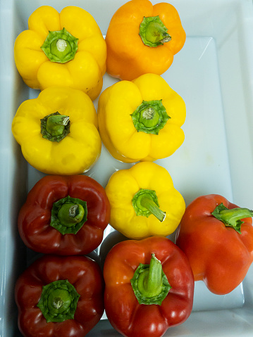 Sweet red and yellow little pepper.
