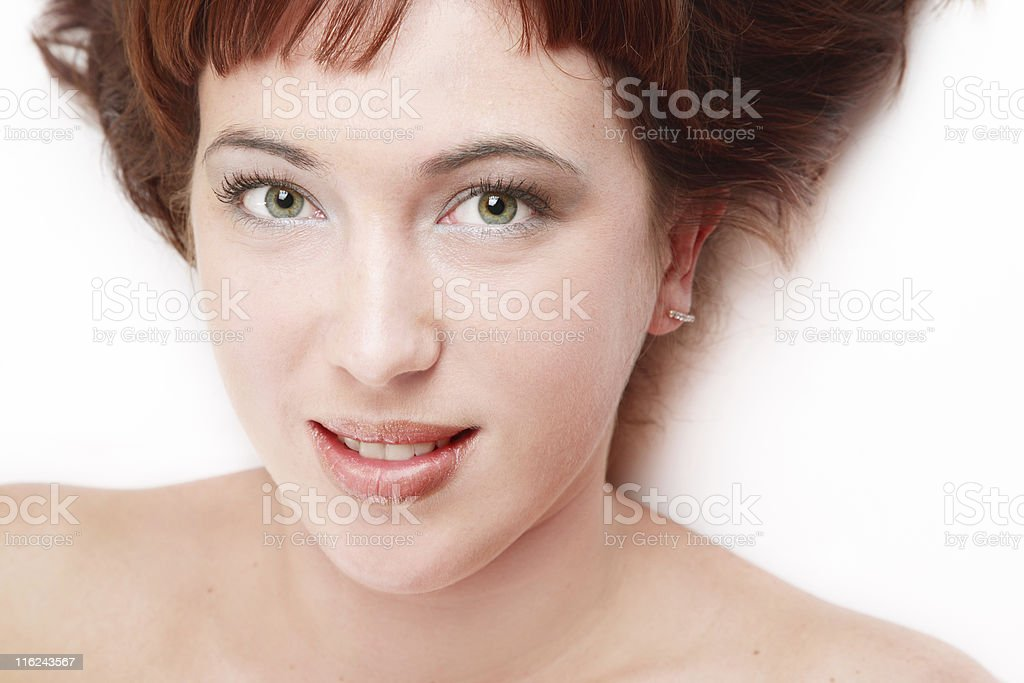 Sweet redhead royalty-free stock photo