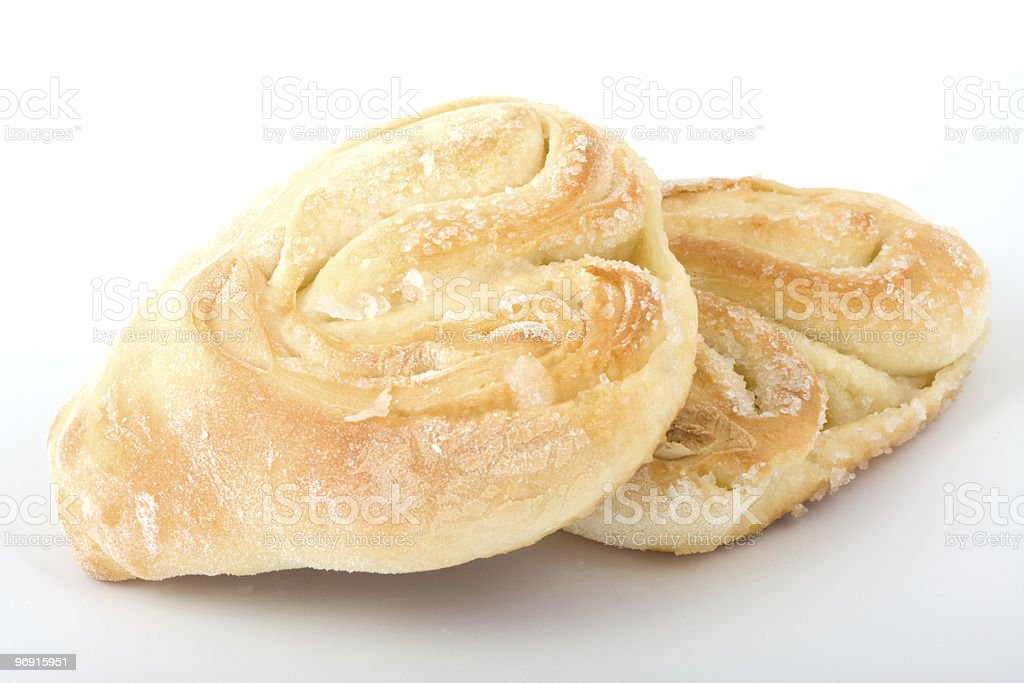 Sweet roll isloated on white royalty-free stock photo