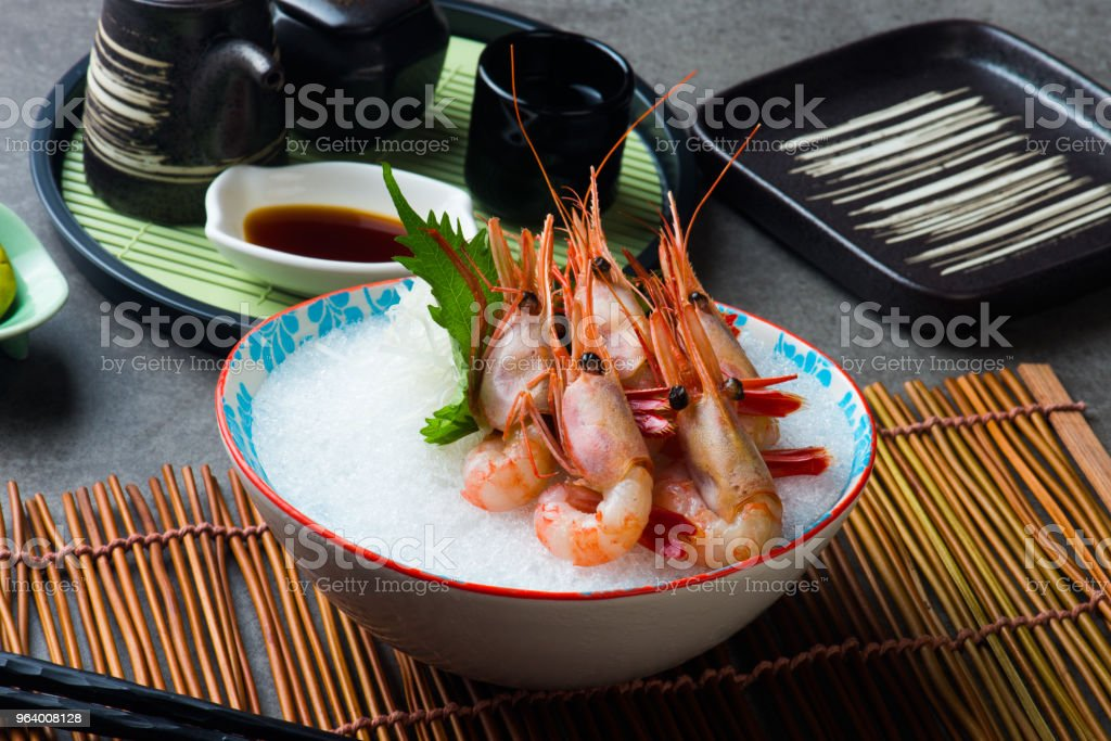 Sweet Shrimp Sashimi (Amaebi) Japanese - Royalty-free Appetizer Stock Photo