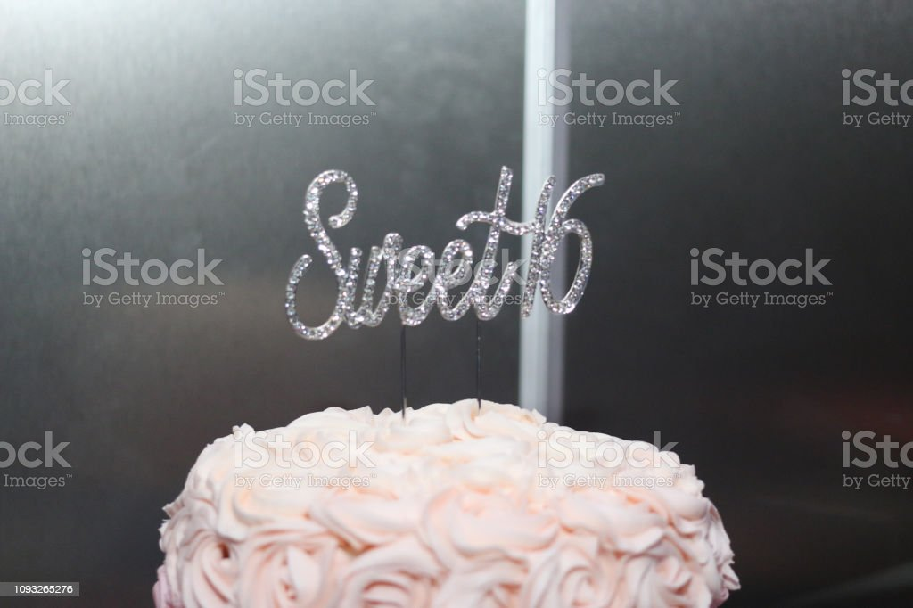 Astonishing Sweet Sixteen Birthday Cake Stock Photo Download Image Now Istock Personalised Birthday Cards Sponlily Jamesorg