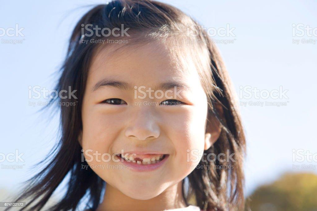 Sweet smile girl stock photo