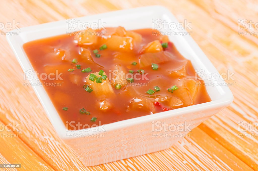 Sweet & Sour Sauce stock photo