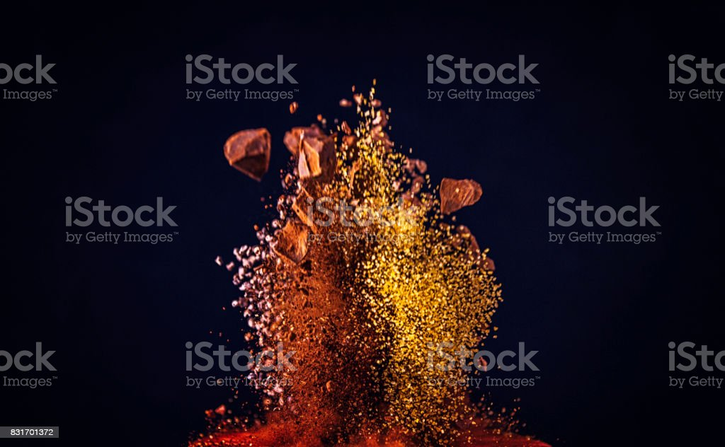 Sweet Spice Mix Food Explosion stock photo