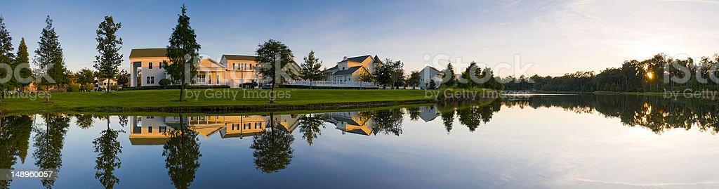 Sweet suburban sunset royalty-free stock photo