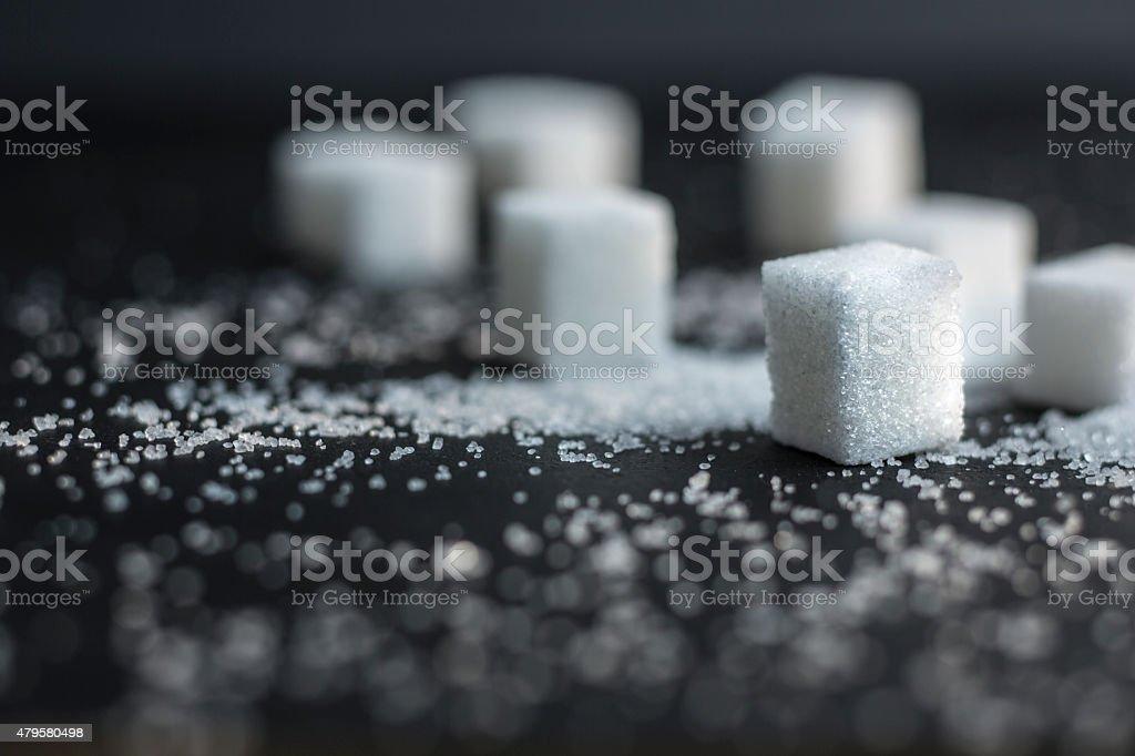 sweet sugar cubes, stock photo