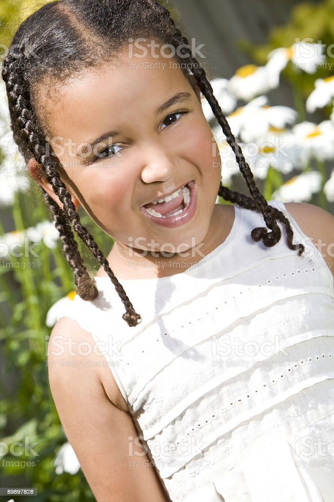 Sweet Summer Laughter royalty free stockfoto
