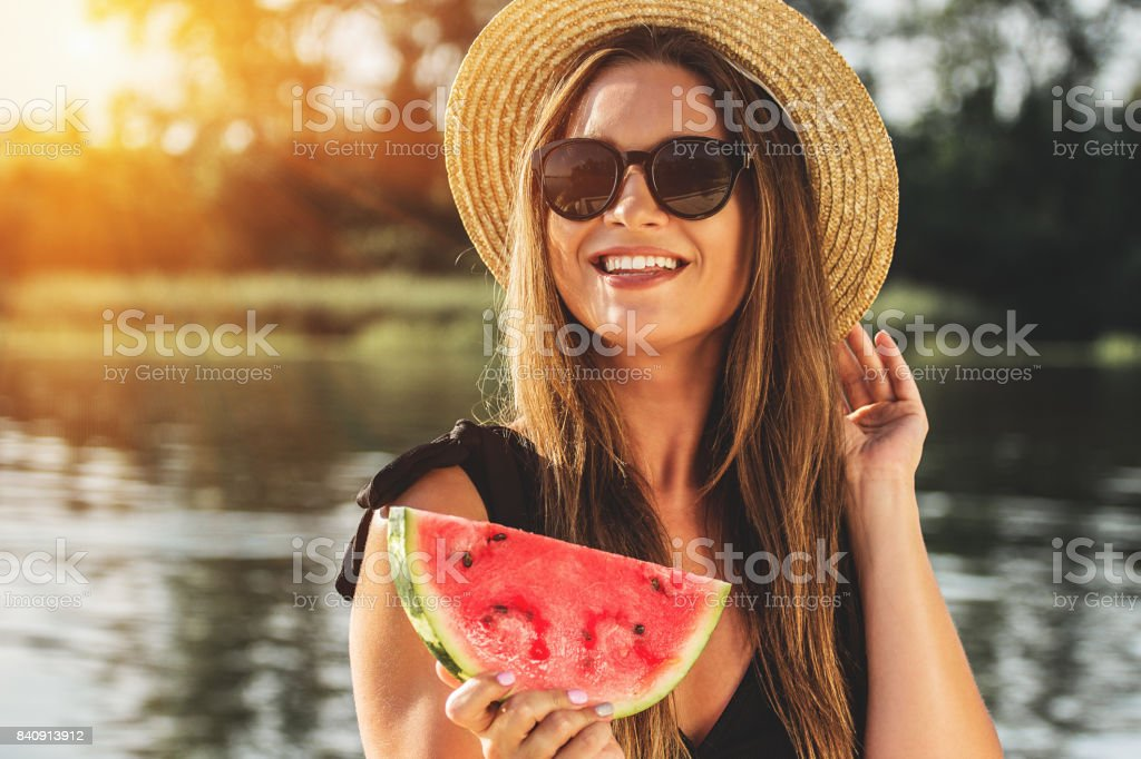 Sweet summer moments outdoors. - Royalty-free Adult Stock Photo