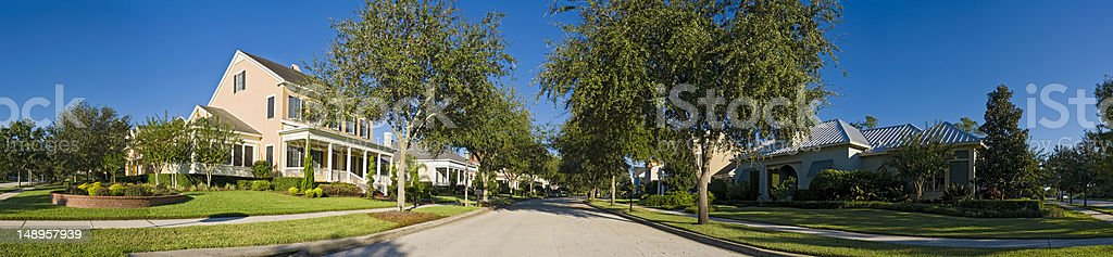 Sweet summer suburbs stock photo