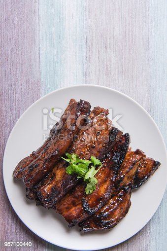 istock sweet tangy delicious grilled pork belly 957100440