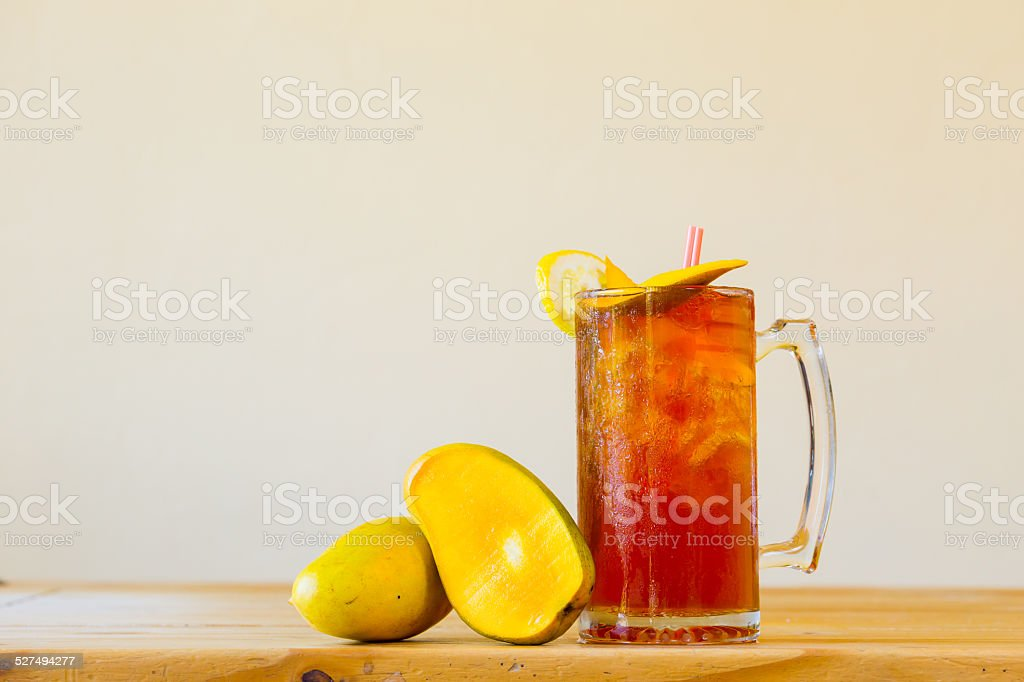 Sweet Tea with Fruit stock photo