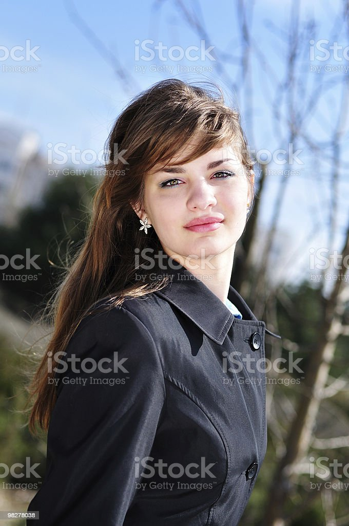 sweet teenage girl royalty-free stock photo