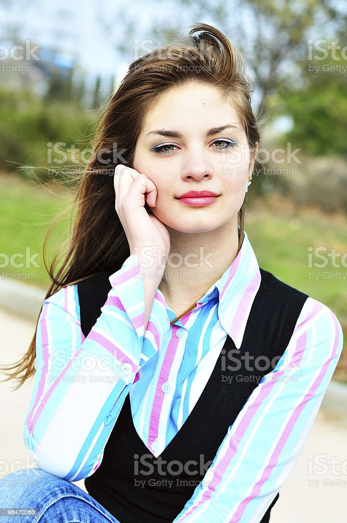 sweet teenage girl royalty-free stock photo