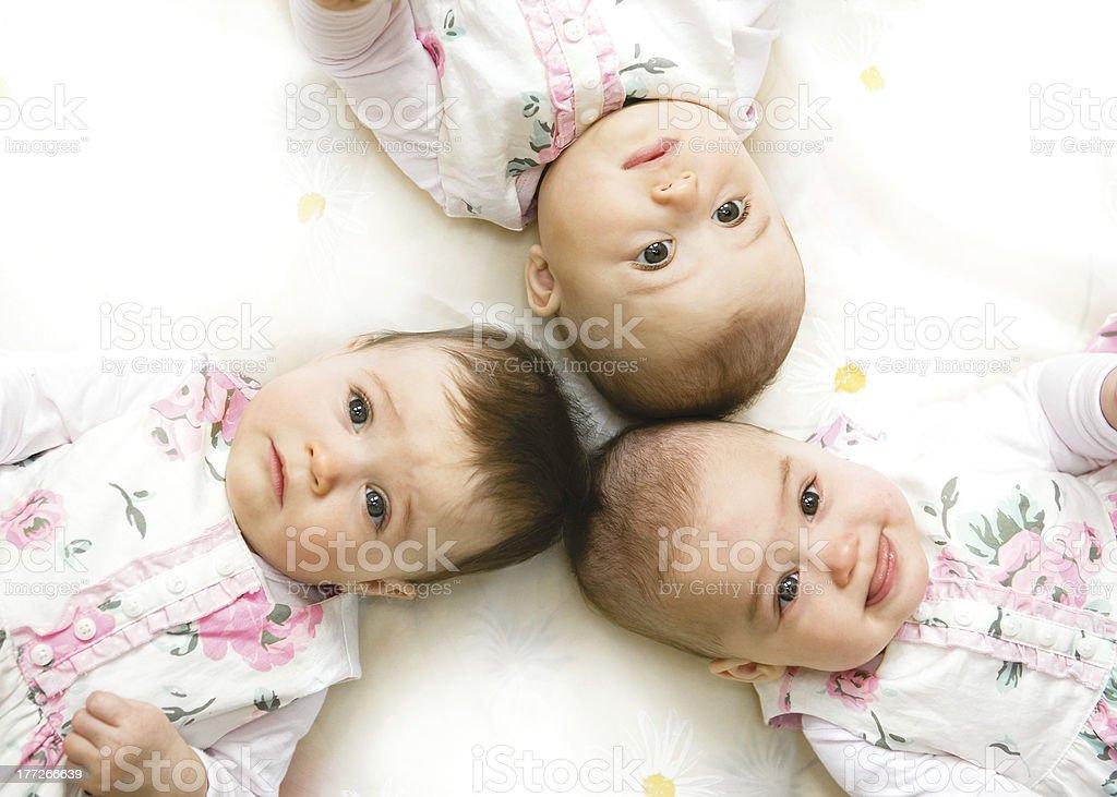 Sweet triplet stock photo