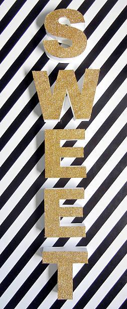 Sweet Typography stock photo
