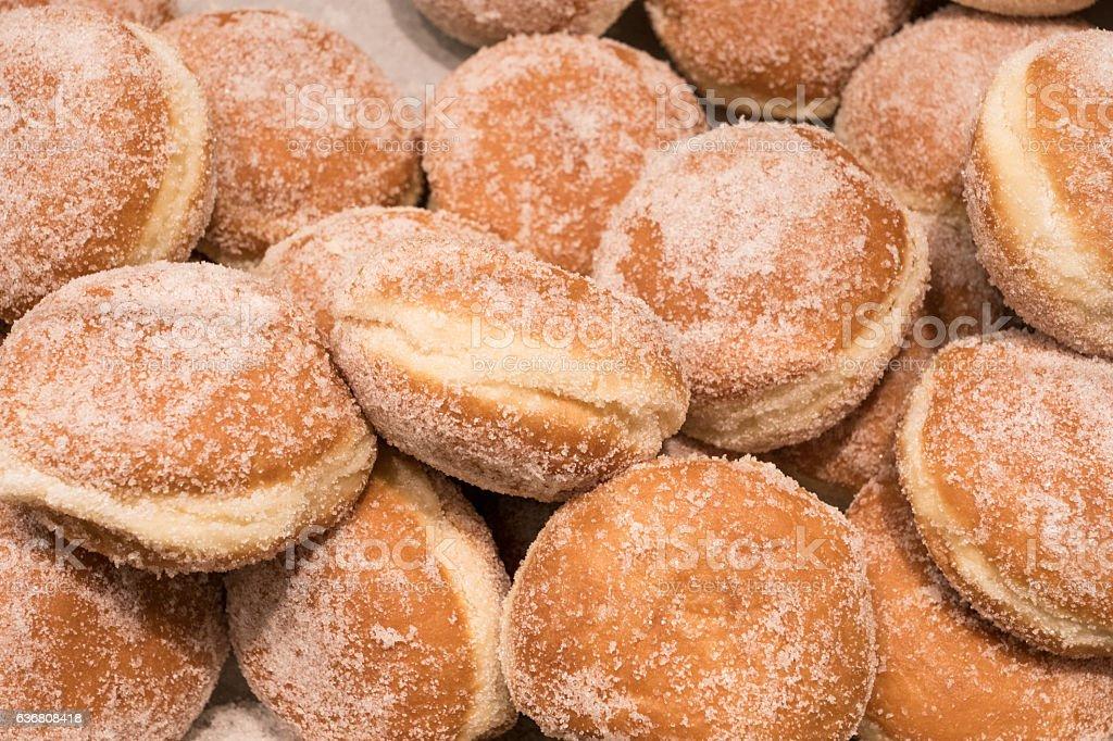 Sweet vanilla donuts stock photo