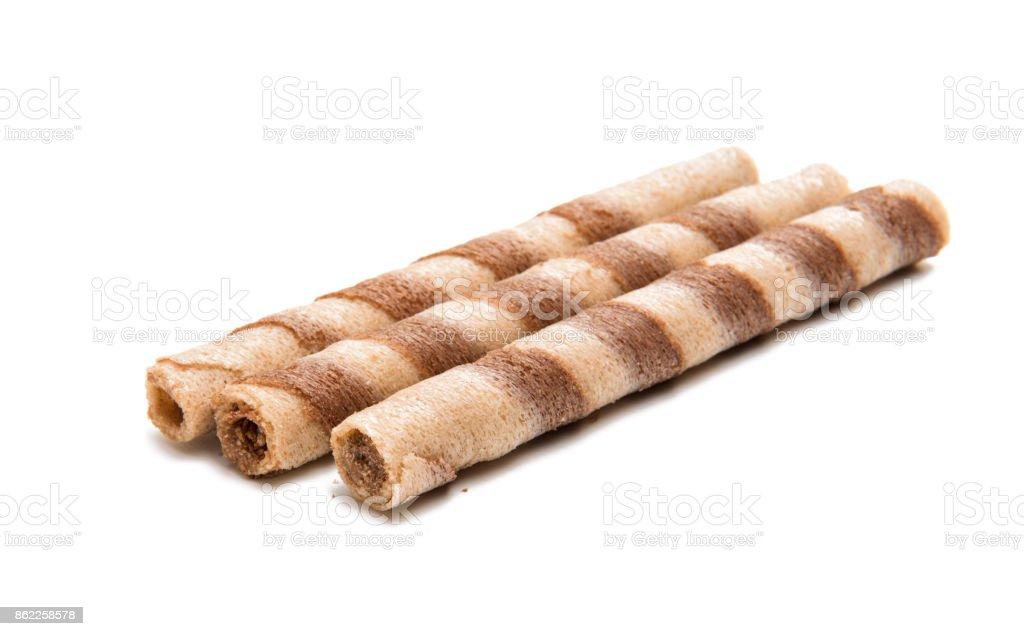 Sweet wafel sticks isolated stock photo