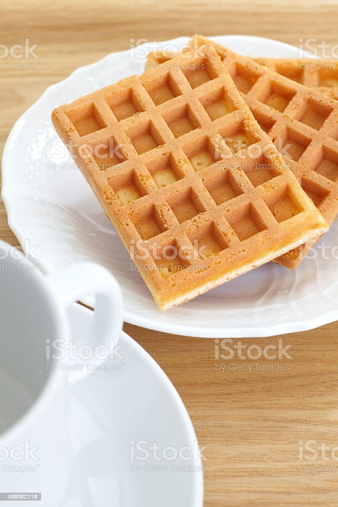 sweet waffle royalty-free stock photo