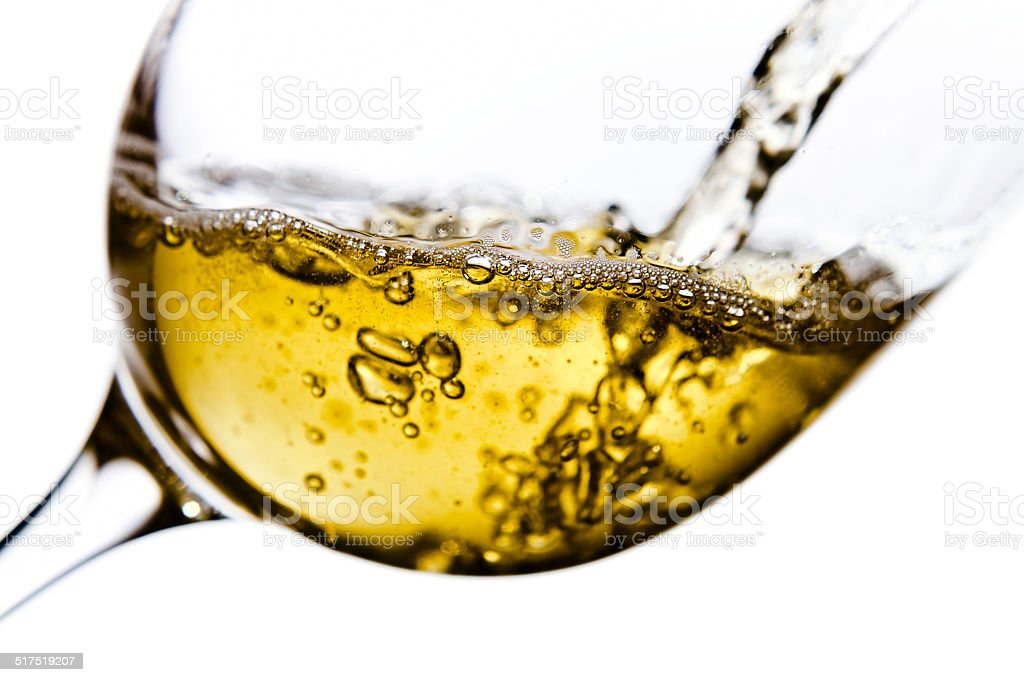 sweet wine isolated  on white stock photo