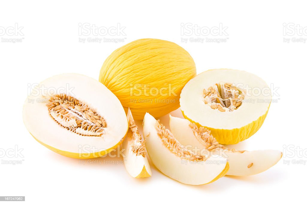 Sweet yellow melon royalty-free stock photo